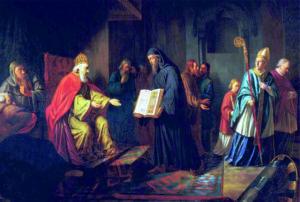 Князь Владимир избирает религию христианство